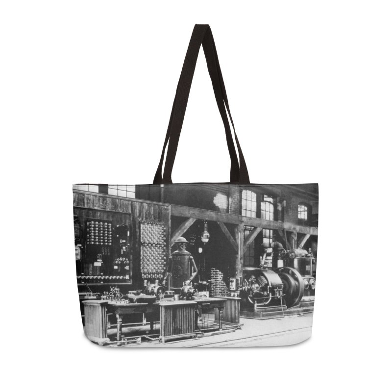 Boilerplate in the Laboratory Accessories Weekender Bag Bag by Big Red Hair's Artist Shop