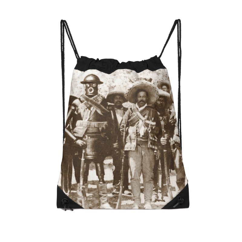 Boilerplate and Pancho Villa Accessories Drawstring Bag Bag by Big Red Hair's Artist Shop