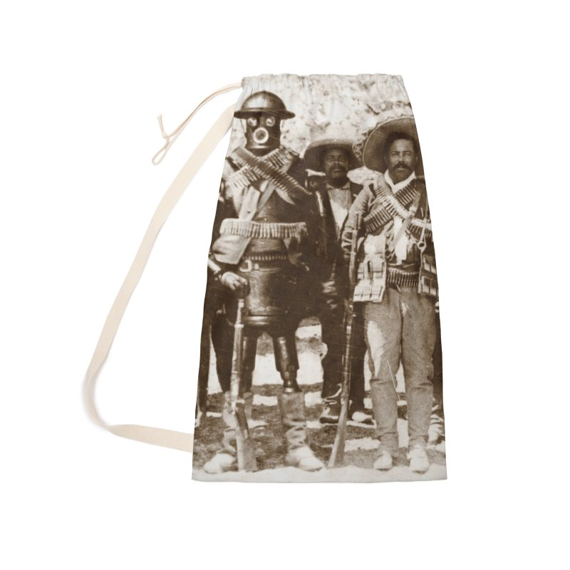 Boilerplate and Pancho Villa Accessories Laundry Bag Bag by Big Red Hair's Artist Shop