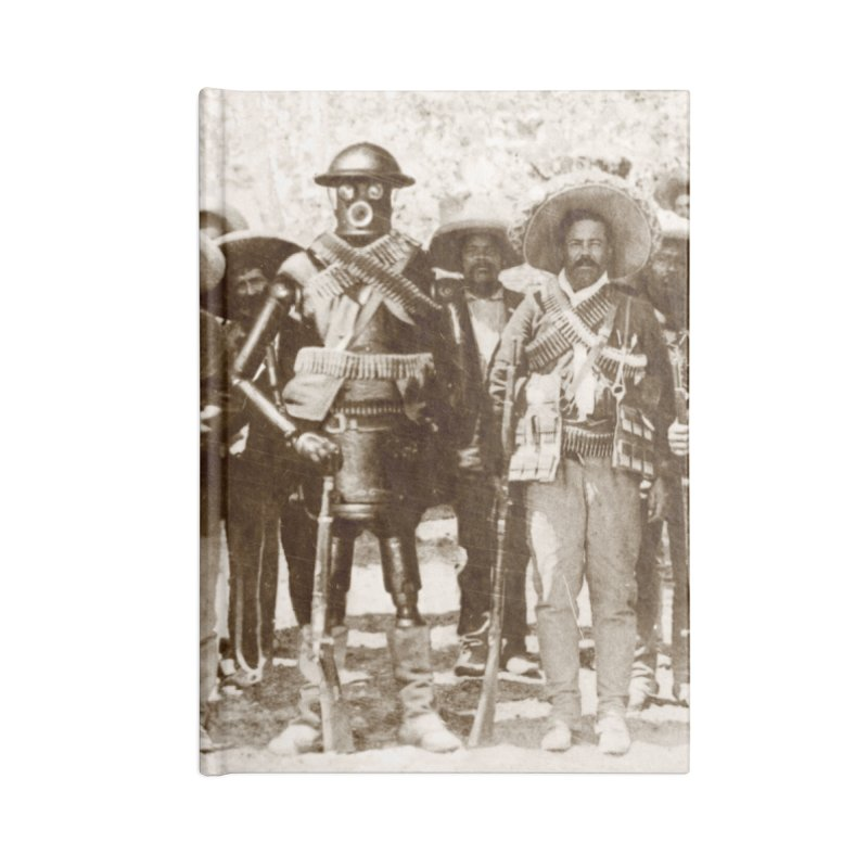 Boilerplate and Pancho Villa Accessories Blank Journal Notebook by Big Red Hair's Artist Shop