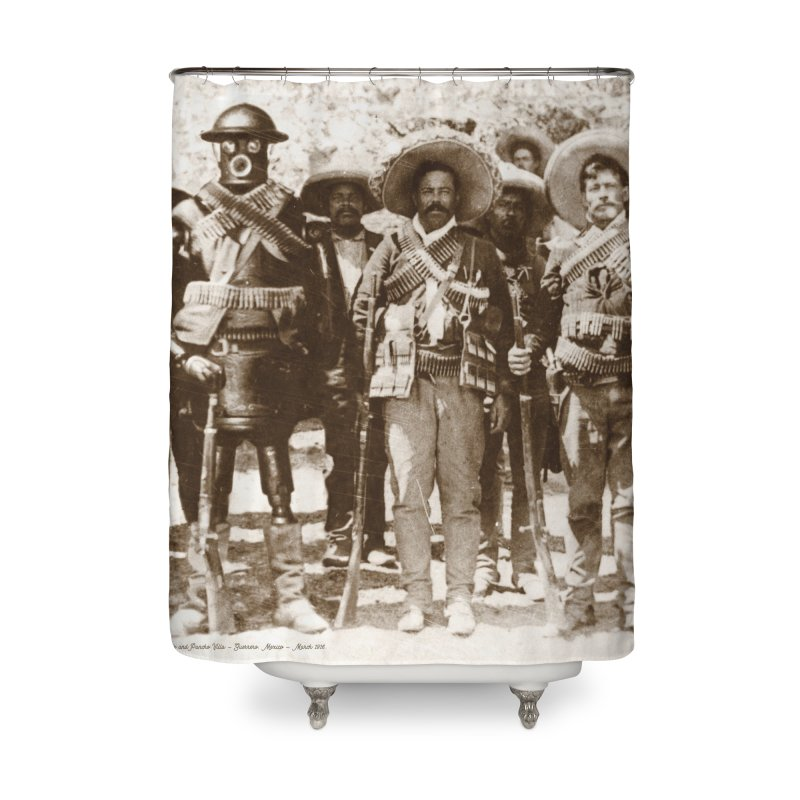 Boilerplate and Pancho Villa Home Shower Curtain by Big Red Hair's Artist Shop