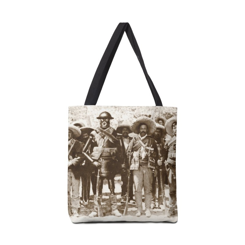 Boilerplate and Pancho Villa Accessories Tote Bag Bag by Big Red Hair's Artist Shop