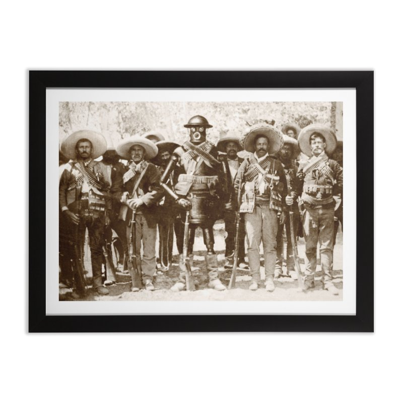 Boilerplate and Pancho Villa Home Framed Fine Art Print by Big Red Hair's Artist Shop