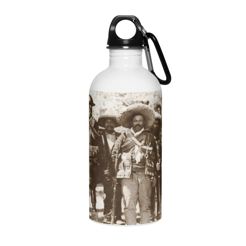 Boilerplate and Pancho Villa Accessories Water Bottle by Big Red Hair's Artist Shop
