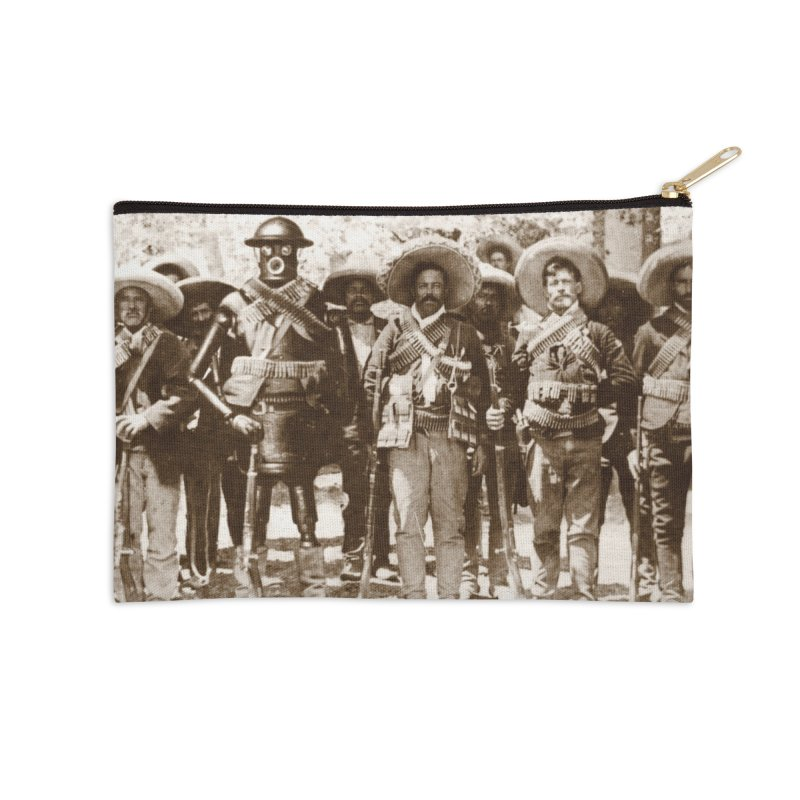Boilerplate and Pancho Villa Accessories Zip Pouch by Big Red Hair's Artist Shop