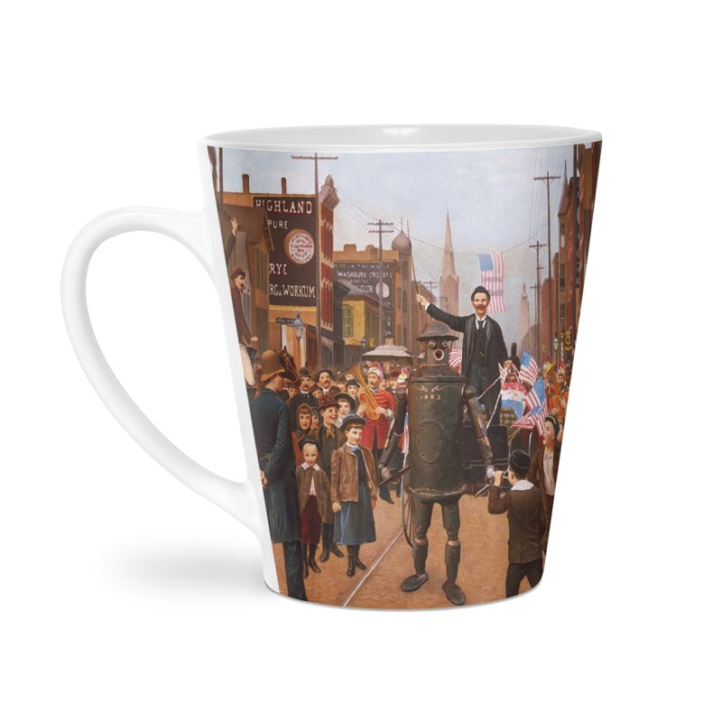Boilerplate and the Presidential Parade Accessories Latte Mug by Big Red Hair's Artist Shop