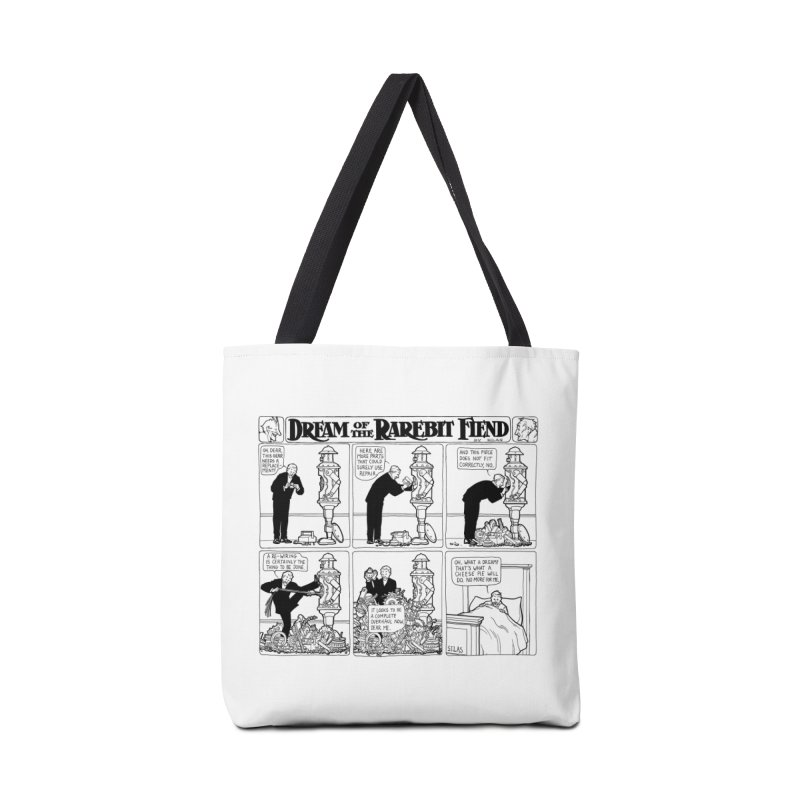 Boilerplate and the Bad Dream Accessories Tote Bag Bag by Big Red Hair's Artist Shop