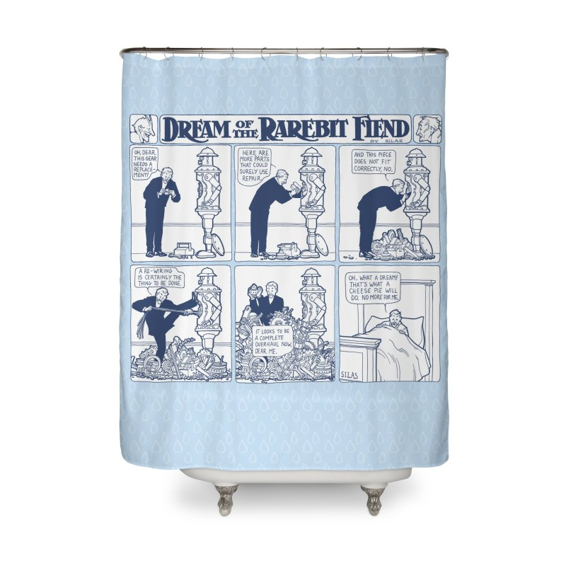 Boilerplate and the Bad Dream Home Shower Curtain by Big Red Hair's Artist Shop