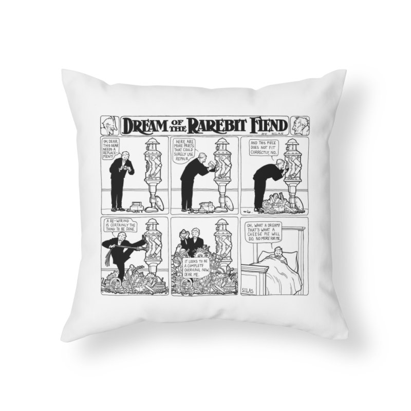 Boilerplate and the Bad Dream Home Throw Pillow by Big Red Hair's Artist Shop