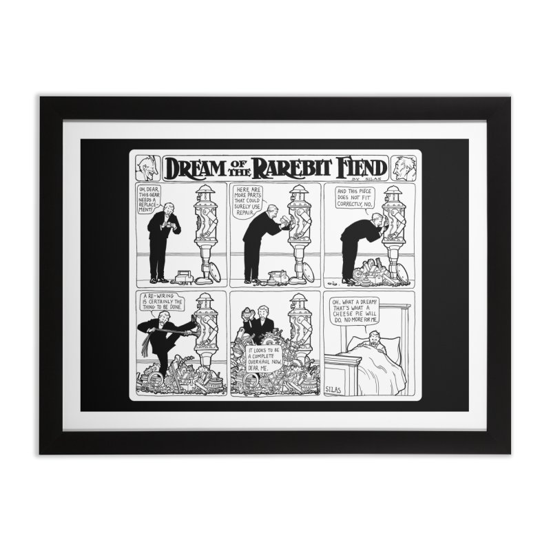 Boilerplate and the Bad Dream Home Framed Fine Art Print by Big Red Hair's Artist Shop