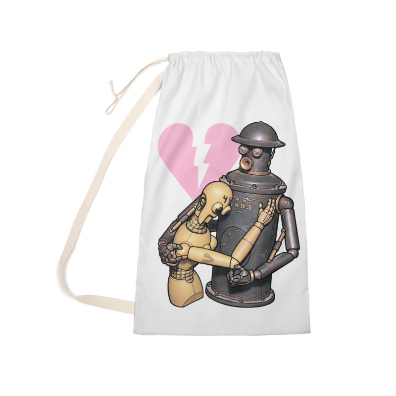 Boilerplate: Robot Romance Accessories Laundry Bag Bag by Big Red Hair's Artist Shop