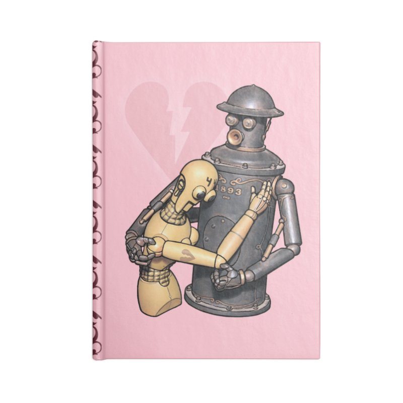 Boilerplate: Robot Romance Accessories Lined Journal Notebook by Big Red Hair's Artist Shop