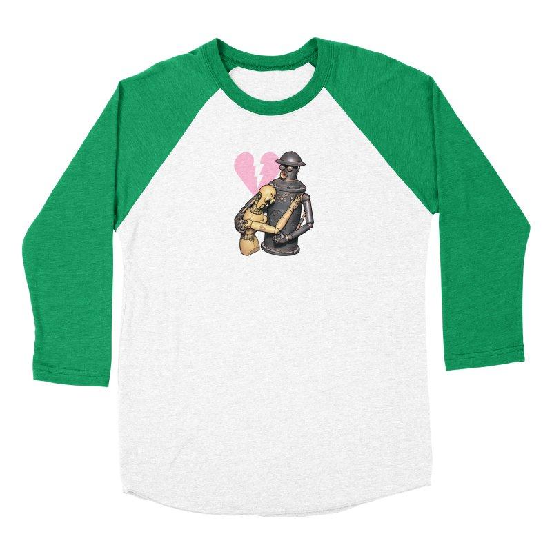 Boilerplate: Robot Romance Women's Baseball Triblend Longsleeve T-Shirt by Big Red Hair's Artist Shop