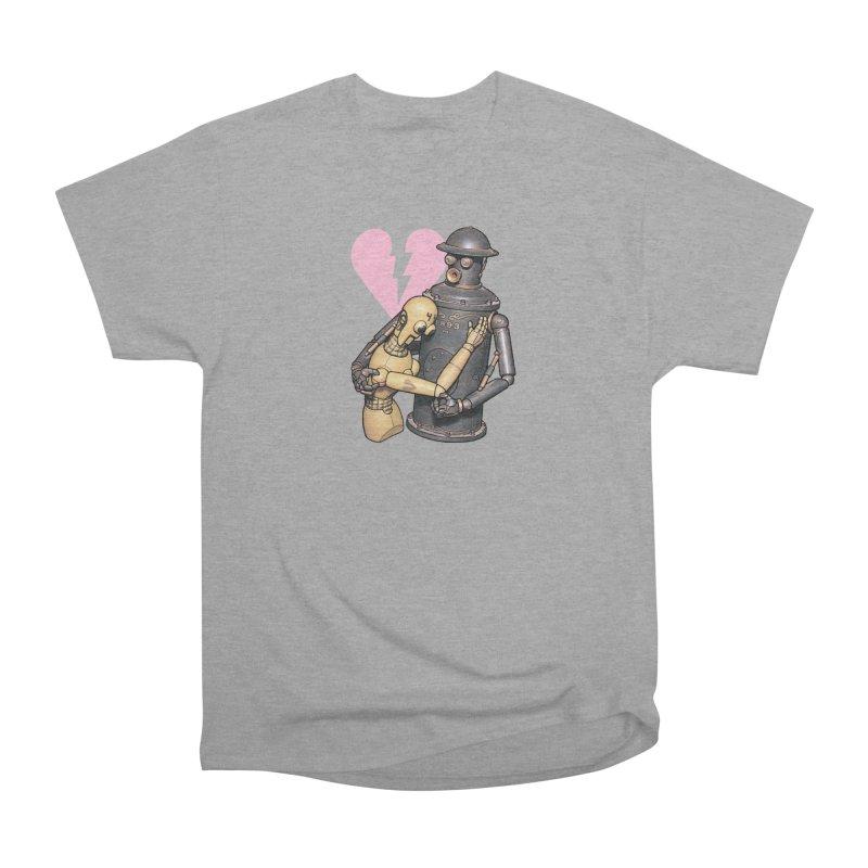 Boilerplate: Robot Romance Women's Heavyweight Unisex T-Shirt by Big Red Hair's Artist Shop