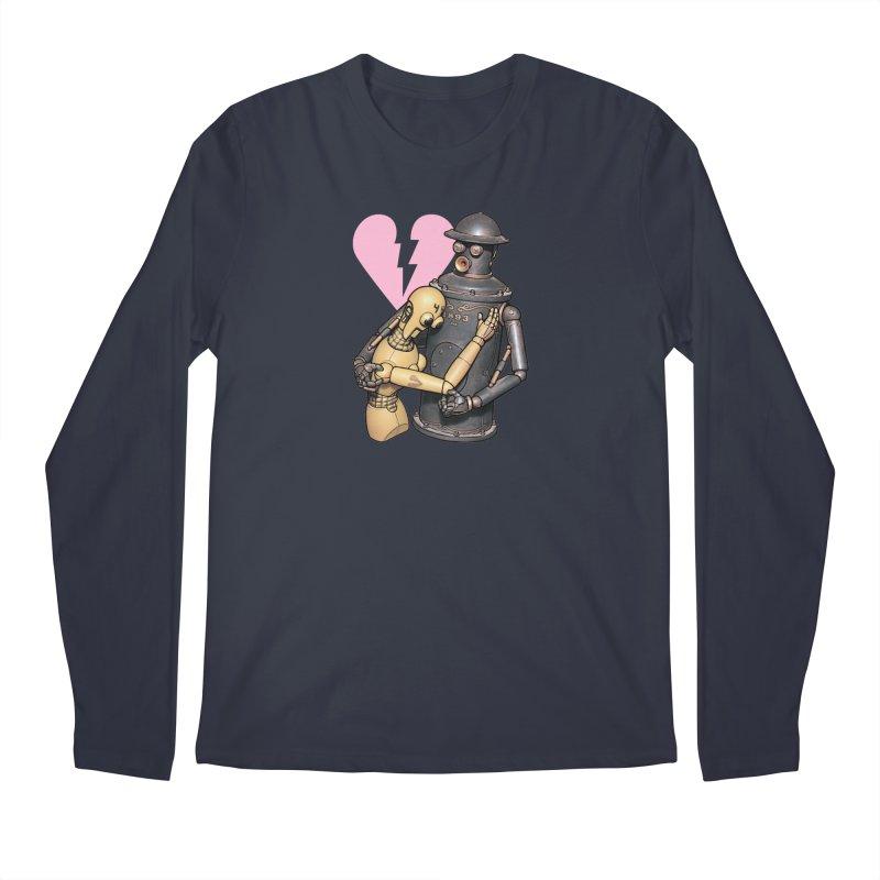 Boilerplate: Robot Romance Men's Regular Longsleeve T-Shirt by Big Red Hair's Artist Shop