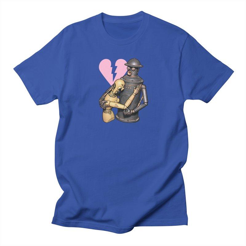 Boilerplate: Robot Romance Men's Regular T-Shirt by Big Red Hair's Artist Shop