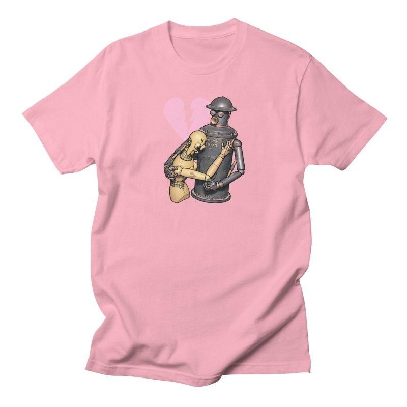Boilerplate: Robot Romance Women's Regular Unisex T-Shirt by Big Red Hair's Artist Shop
