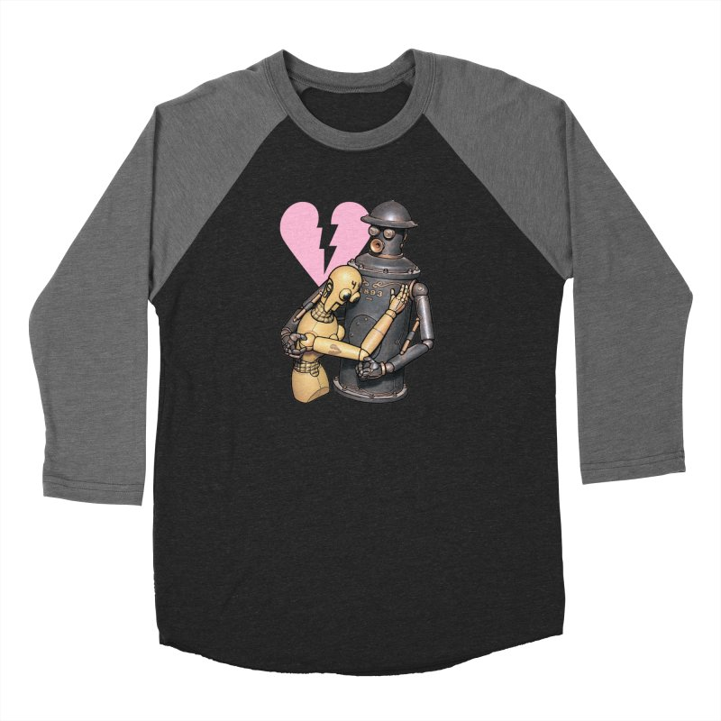 Boilerplate: Robot Romance Men's Baseball Triblend Longsleeve T-Shirt by Big Red Hair's Artist Shop