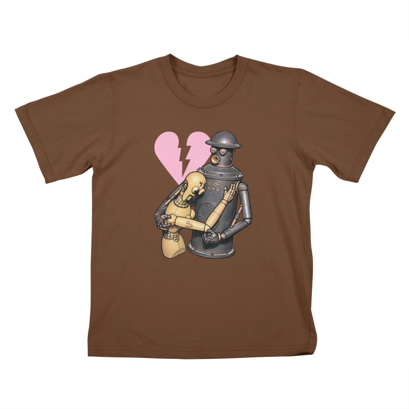 Boilerplate: Robot Romance Kids T-Shirt by Big Red Hair's Artist Shop