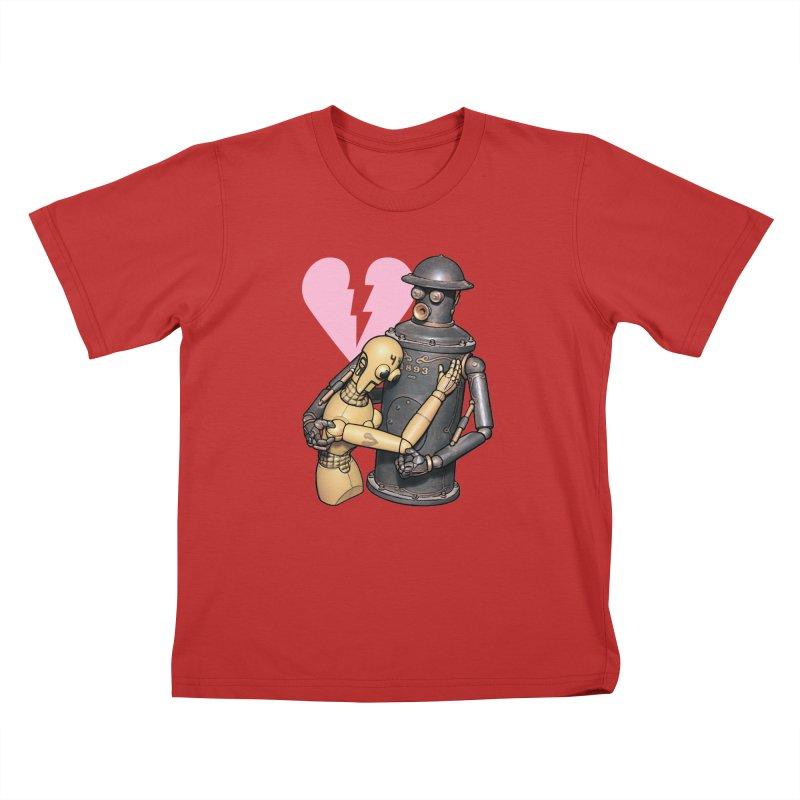 Boilerplate: Robot Romance Kids T-Shirt by Big Red Hair's Artist Shop