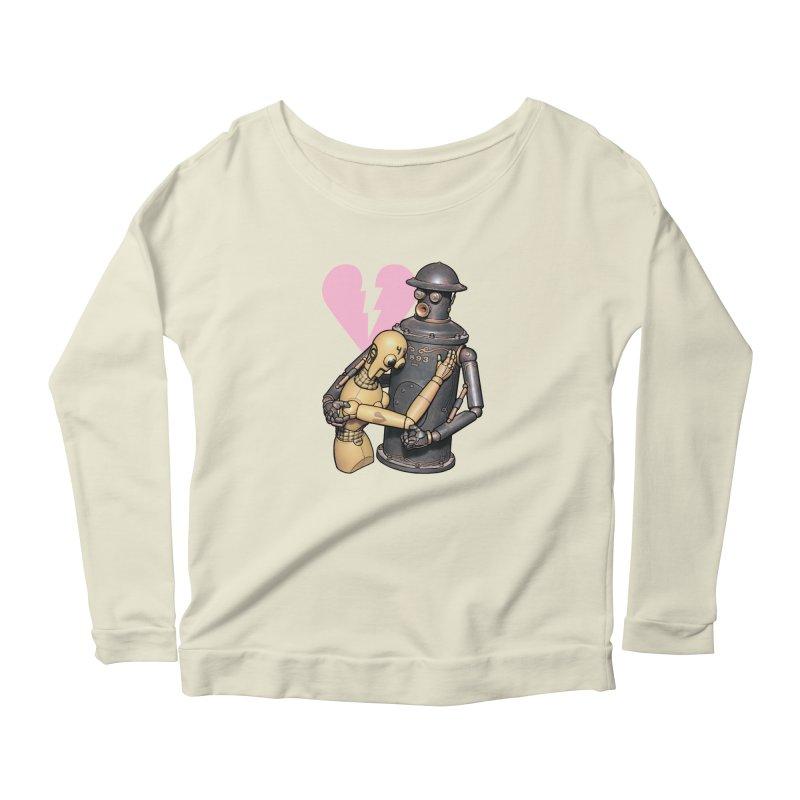 Boilerplate: Robot Romance Women's Scoop Neck Longsleeve T-Shirt by Big Red Hair's Artist Shop