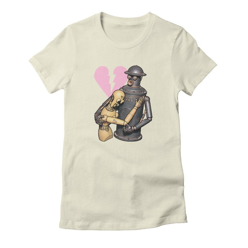 Boilerplate: Robot Romance Women's Fitted T-Shirt by Big Red Hair's Artist Shop