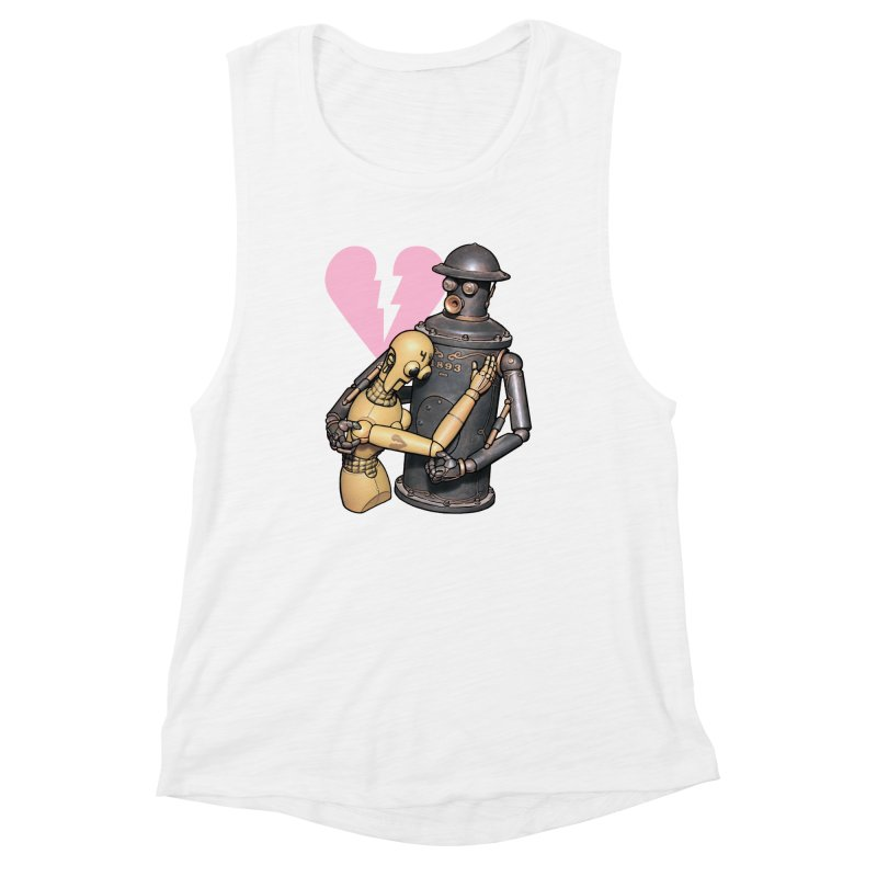 Boilerplate: Robot Romance Women's Muscle Tank by Big Red Hair's Artist Shop