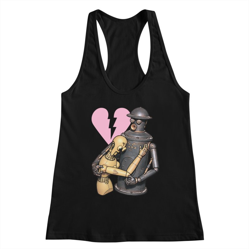 Boilerplate: Robot Romance Women's Racerback Tank by Big Red Hair's Artist Shop