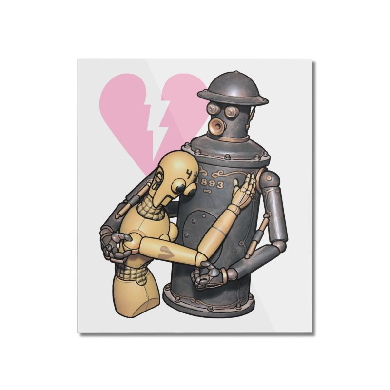 Boilerplate: Robot Romance Home Mounted Acrylic Print by Big Red Hair's Artist Shop