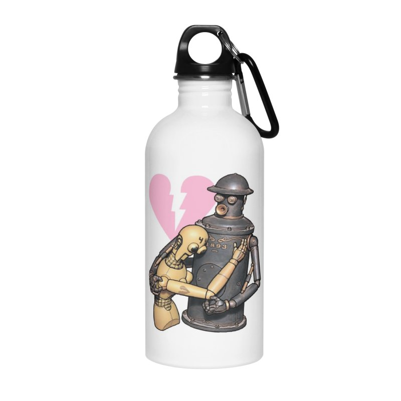 Boilerplate: Robot Romance Accessories Water Bottle by Big Red Hair's Artist Shop