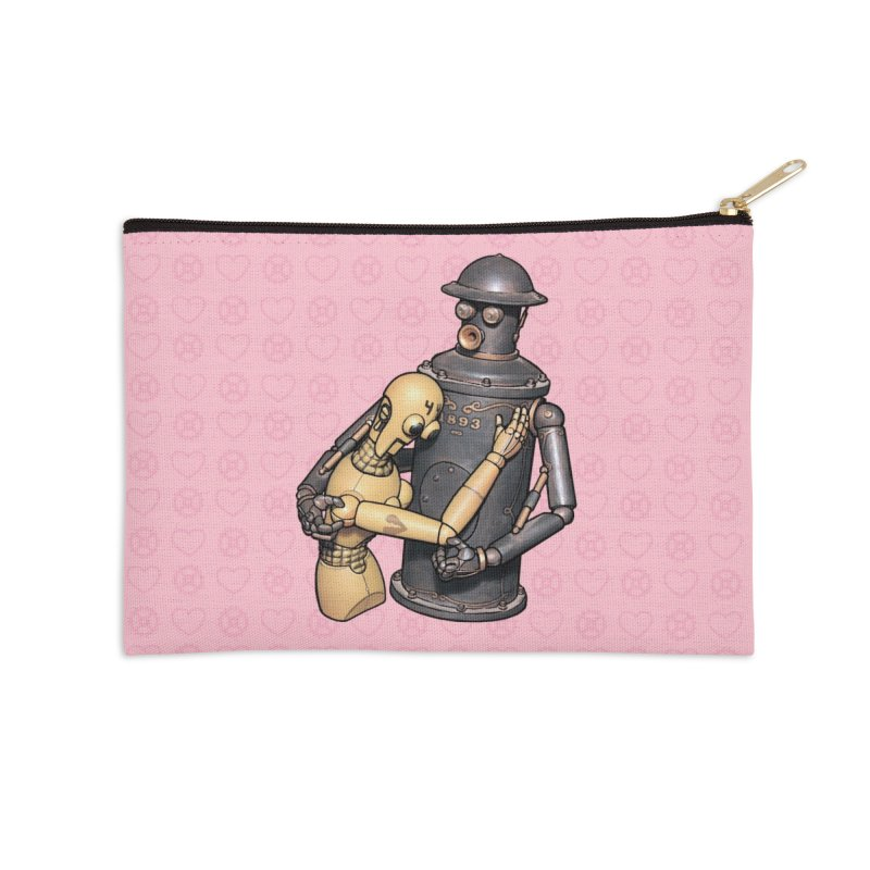Boilerplate: Robot Romance Accessories Zip Pouch by Big Red Hair's Artist Shop