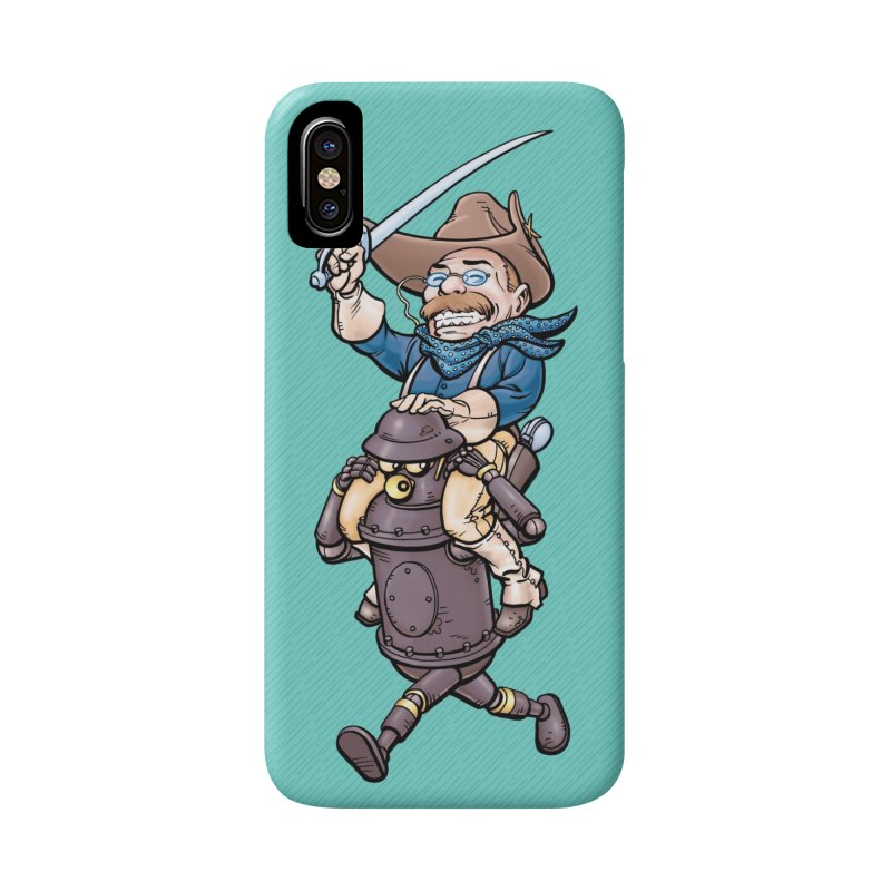 Boilerplate Takes T.R. for a Ride Accessories Phone Case by Big Red Hair's Artist Shop
