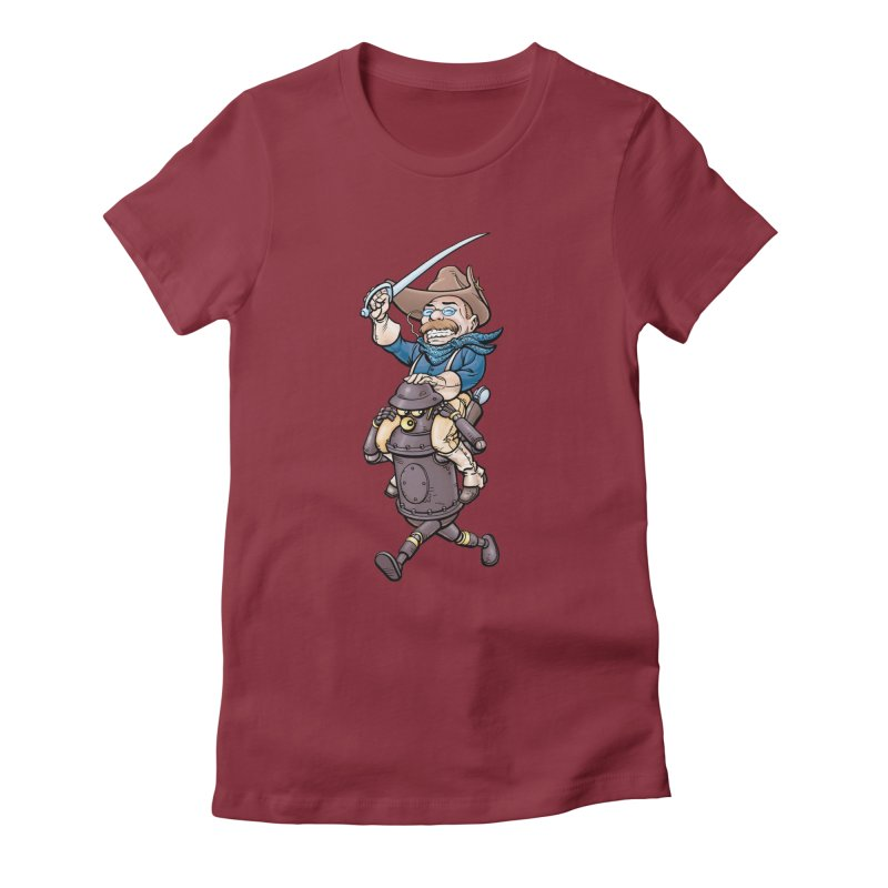 Boilerplate Takes T.R. for a Ride Women's Fitted T-Shirt by Big Red Hair's Artist Shop