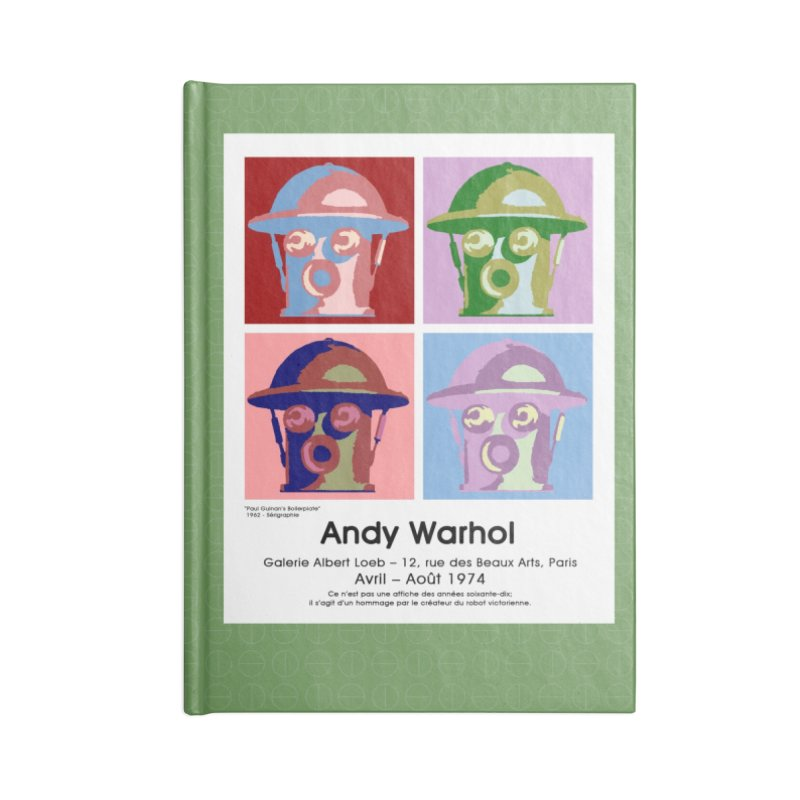 Boilerplate After Andy Warhol Accessories Lined Journal Notebook by Big Red Hair's Artist Shop