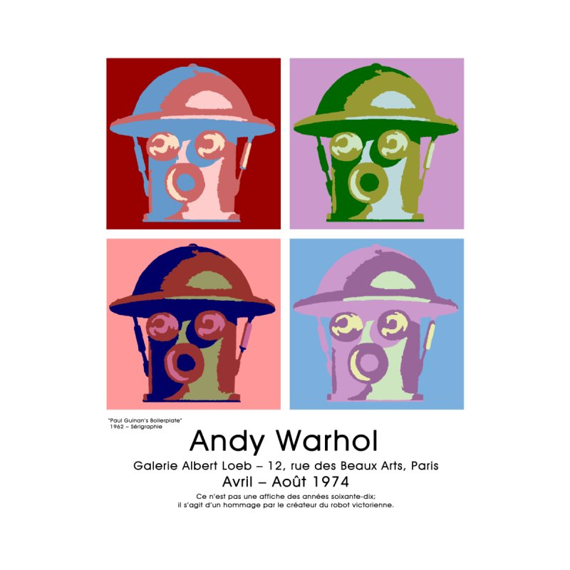 Boilerplate After Andy Warhol by Big Red Hair's Artist Shop