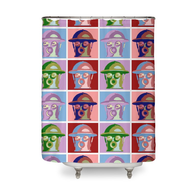 Boilerplate After Andy Warhol Home Shower Curtain by Big Red Hair's Artist Shop