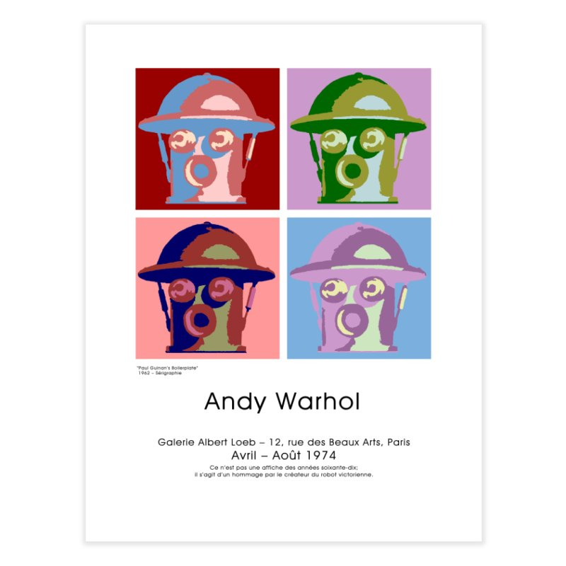 Boilerplate After Andy Warhol Home Fine Art Print by Big Red Hair's Artist Shop