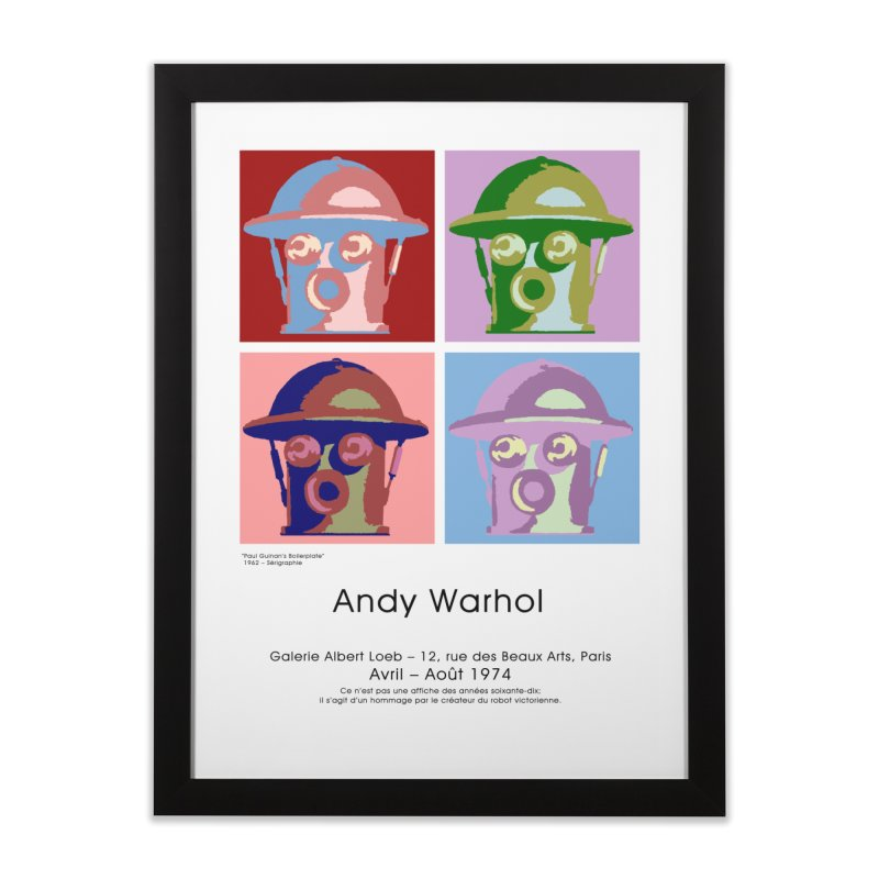 Boilerplate After Andy Warhol Home Framed Fine Art Print by Big Red Hair's Artist Shop