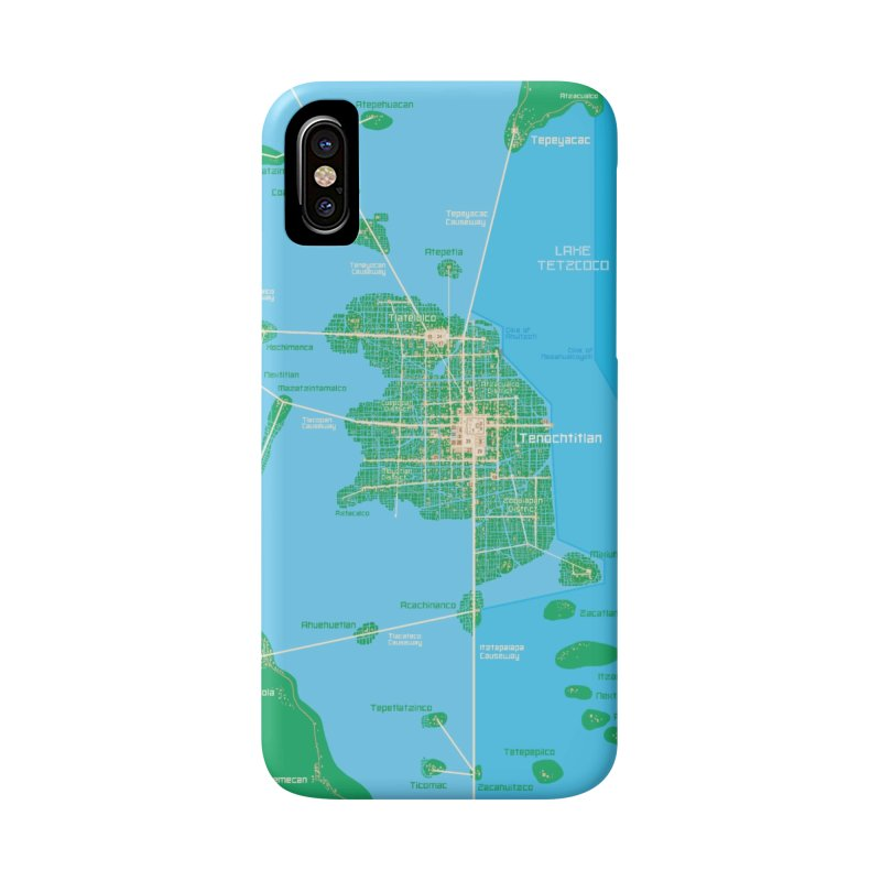 Aztec Empire Tenochtitlan Map Accessories Phone Case by Big Red Hair's Artist Shop