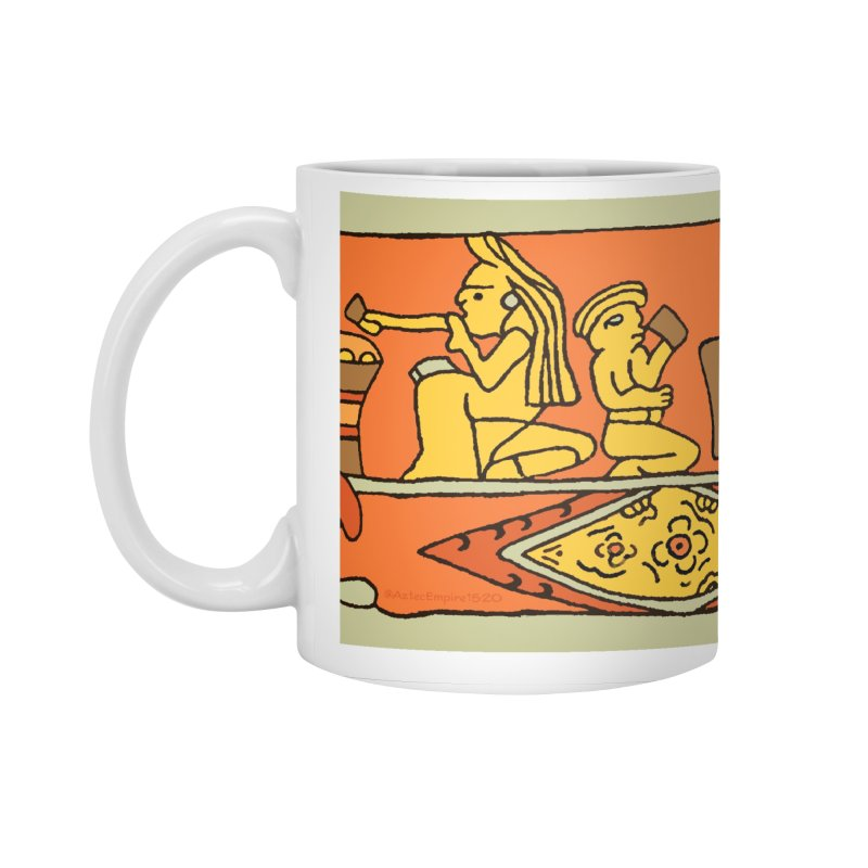 Aztec Empire Drinking Mural Accessories Standard Mug by Big Red Hair's Artist Shop
