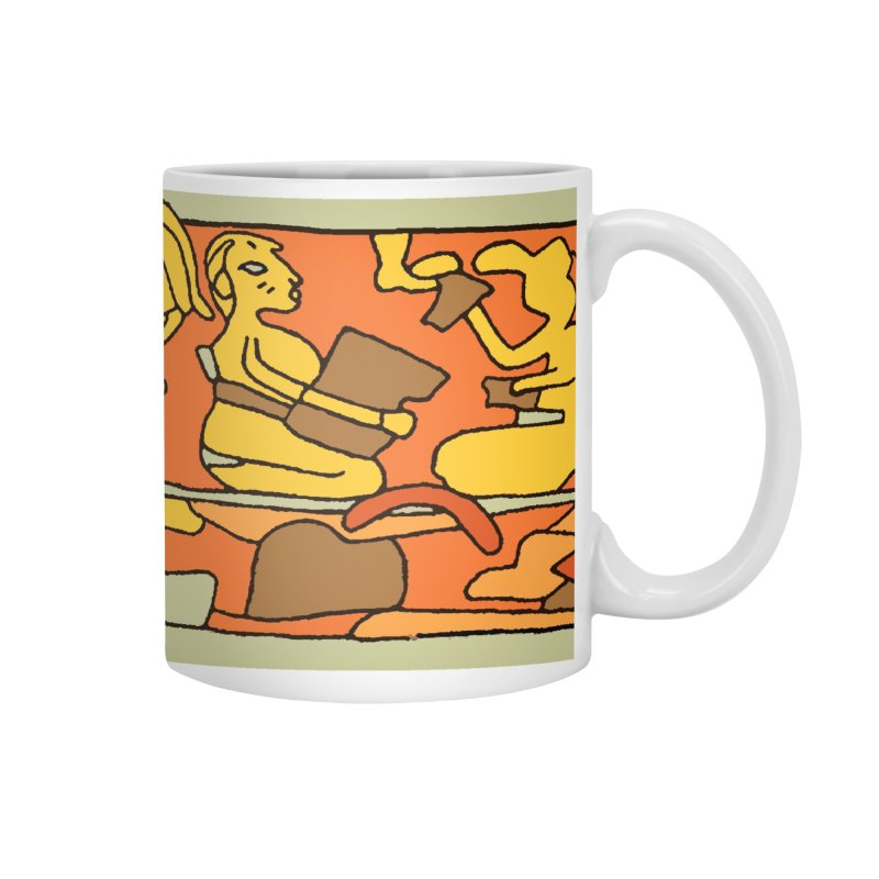 Aztec Empire Drinking Mural Accessories Mug by Big Red Hair's Artist Shop