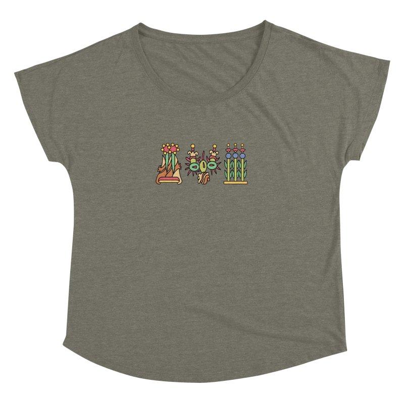 Aztec Empire: Symbol Logo Women's Dolman Scoop Neck by Big Red Hair's Artist Shop