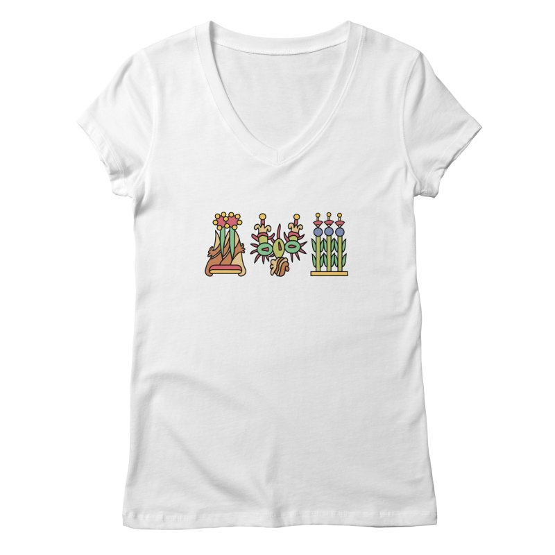 Aztec Empire: Symbol Logo Women's Regular V-Neck by Big Red Hair's Artist Shop