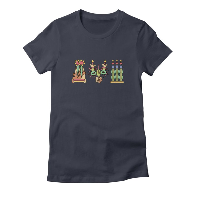 Aztec Empire: Symbol Logo Women's Fitted T-Shirt by Big Red Hair's Artist Shop