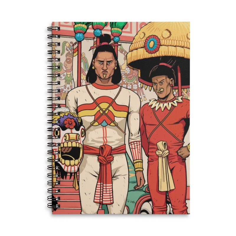 Aztec Empire: Mexica Accessories Lined Spiral Notebook by Big Red Hair's Artist Shop