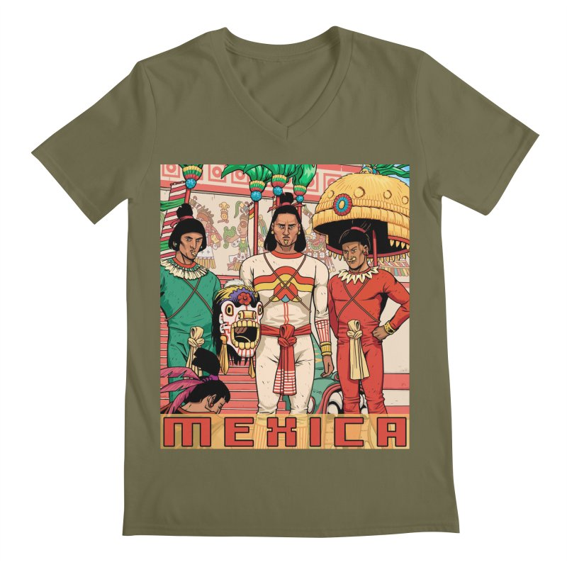 Aztec Empire: Mexica Men's Regular V-Neck by Big Red Hair's Artist Shop