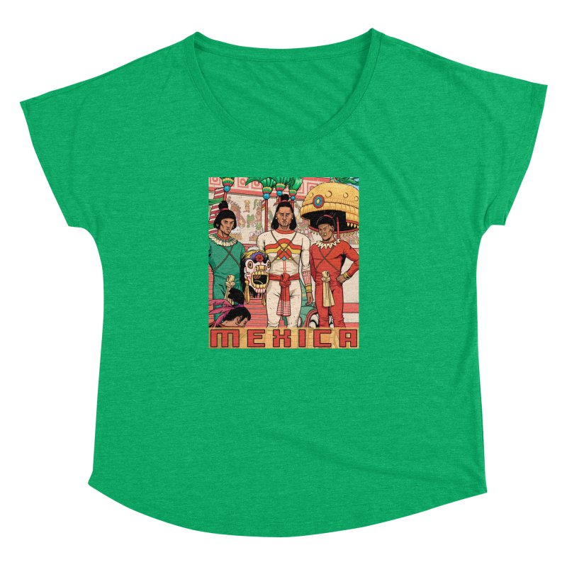 Aztec Empire: Mexica Women's Dolman Scoop Neck by Big Red Hair's Artist Shop