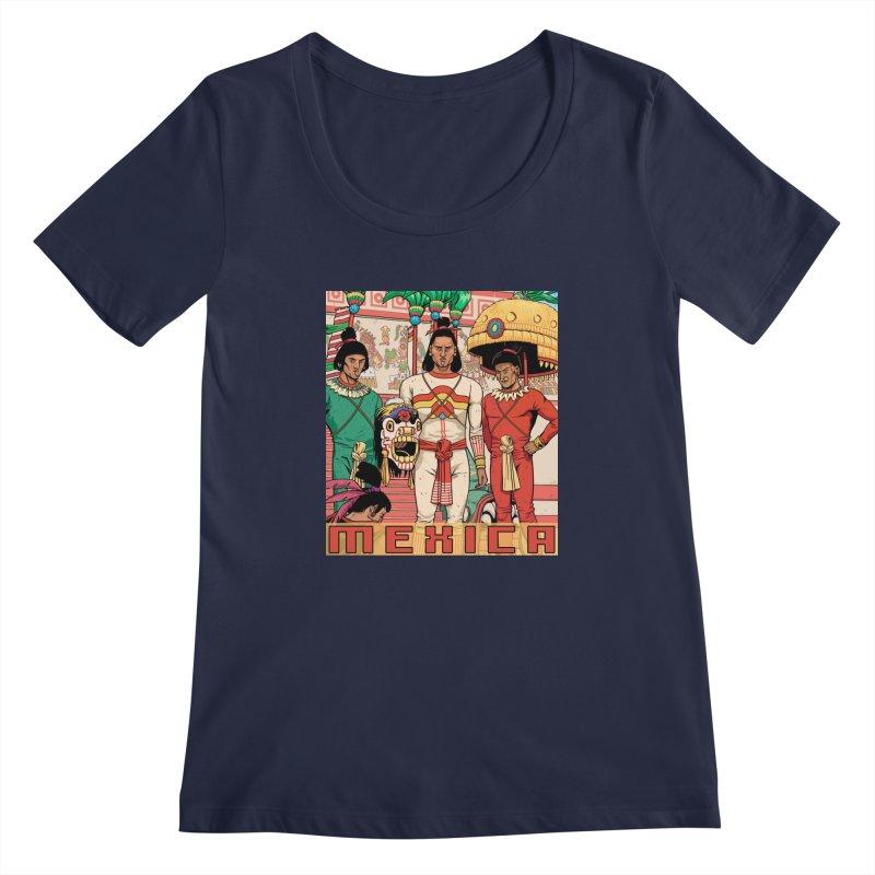 Aztec Empire: Mexica Women's Regular Scoop Neck by Big Red Hair's Artist Shop