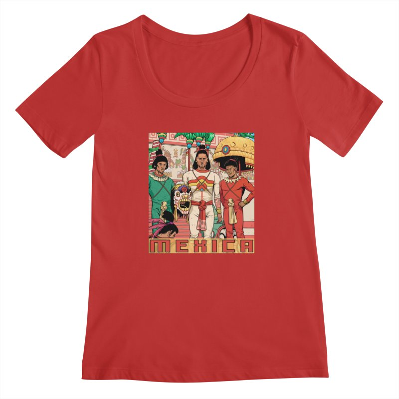 Aztec Empire: Mexica Women's Regular Scoop Neck by Big Red Hair's Artist Shop