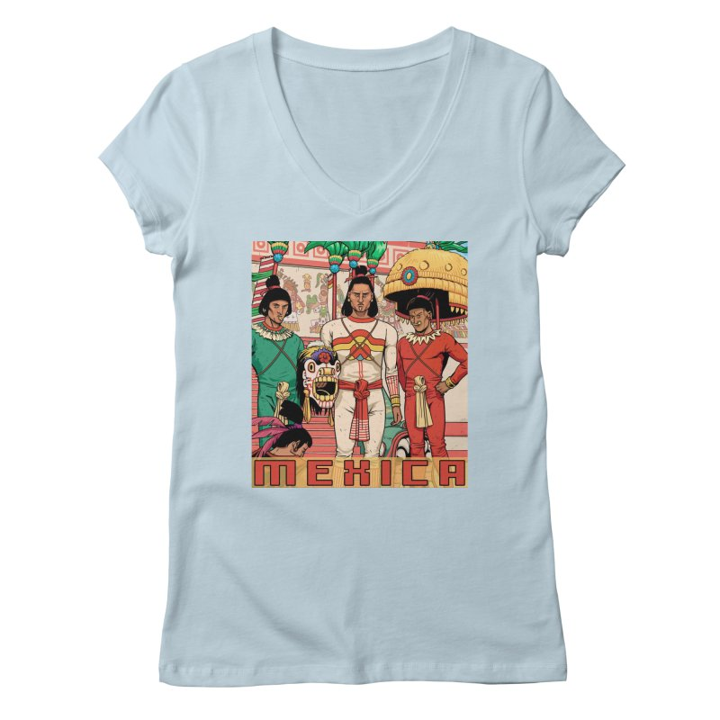 Aztec Empire: Mexica Women's Regular V-Neck by Big Red Hair's Artist Shop